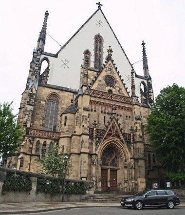 A lipcsei Tamás-templomban található Johann Sebastian Bach sírhelye