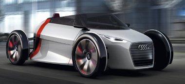 Senki se tökéletes: száguld az Audi Urban Concept, pedig nincs is benne ember...