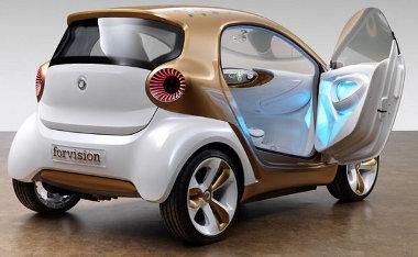 Műanyag utascellát és felniket kapott a Smart forvision tanulmány. Eljut a sorozatgyártásig?