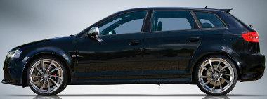 19 colos felniket ajánl az ABT az Audi RS3-ashoz - a gyárihoz haosnlóan elöl szélesebb abroncsokkal