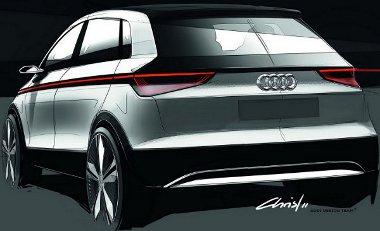 LED csík köti össze az első-hátsó lámpákat az Audi A2 tanulmányon