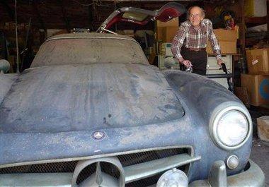 Tom Wellmer negyven évig őrizte garázsában az alu karosszériás 300 SL-t