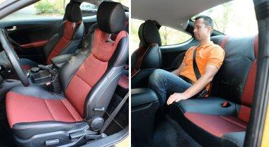 Átlagos a félig motorosan állítható ülések oldaltartása. Sportos formázású a hátsó üléspad, apró, integrált fejtámasszal