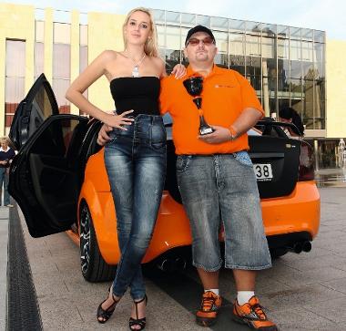 Gránicz Zsolt már díjat is nyert az autóval. Na, nem Alexandrát...