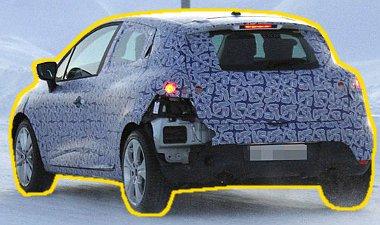 Valószínűleg hófallal találkozás miatt szakadt le a hátsó lökhárító a Clio prototípusról