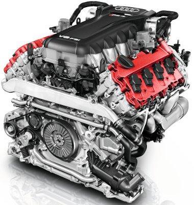 Extrémen hegyes profilú vezérműtengelyeket alkalmaz az Audi a 216 kg-os blokkban