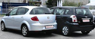 A laposabb Toledo fogyasztása kedvezőbb, mint a testesebb Corolla Versóé