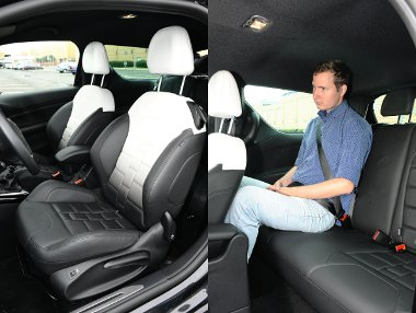 Kényelmes ülések elöl és szűkös helykínálat hátul