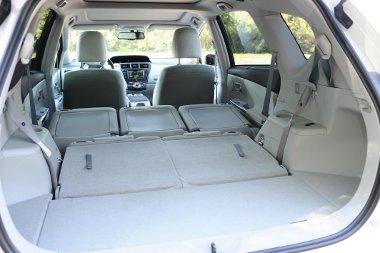 A tetőig mérve 1750 liternyi csomagot fogadhat be az autó