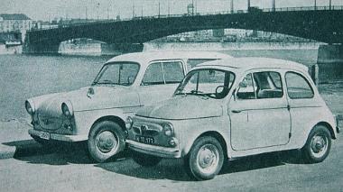 A hazai kocsiparkból a Trabant áll legközelebb a Puch típushoz, és lám, a kis Trabant is milyen nagynak tűnik. Nem optikai csalódás
