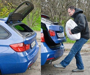 Külön nyitható a szélvédő, felárért láblengetésre tárul a csomagtérajtó