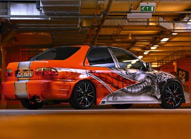 Mintha a Fast and Furious filmekbol gurult volna ki a Honda Civic