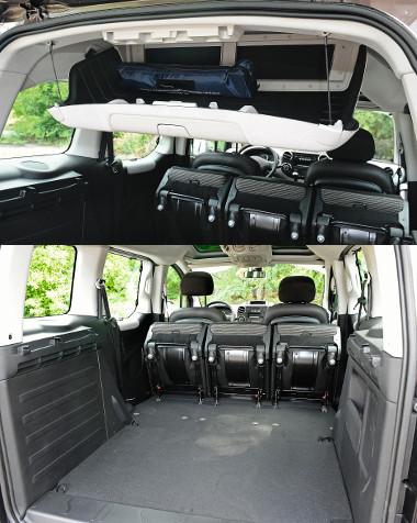 A 60 literes hátsó tetőrekesz az utas- és a raktérből is megközelíthető