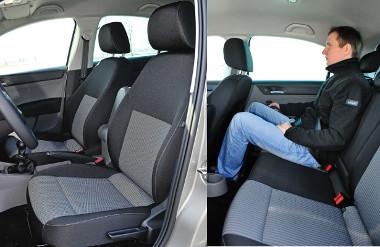 Termetesebb utasoknak is elegendő a lábhely a Toledóban, a kabinszélesség azonban lehetne valamivel nagyvonalúbb