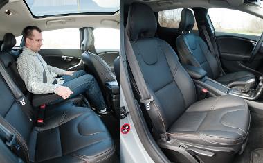 A kényelmes ülések akár hátul is fűthetők. A második sorban kimért a hely, a panoráma-üvegtető felára 355 000 Ft