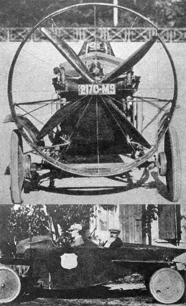 A későbbi Dubonnet féle propelleres, de nyitott kocsi