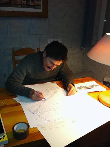 Dr. Schranz Dénes felüdülésként gyakran ragad ceruzát a fúró helyett