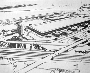 Ilyenek lesznek a Moszkvics-kocsikat kibocsátó Lenini Komszomol Autógyár új épületei. A gyár építését az új ötéves terv időszakában fejezik be