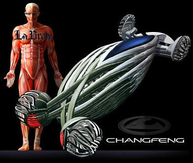 Az emberi izmok-inak adták az ötletet a Changan rugalmas járművéhez