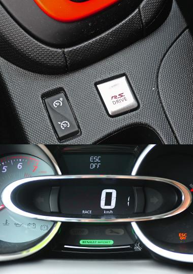 Eldugták az R.S. Drive kapcsolóját, amivel a Race-módot lehet aktiválni