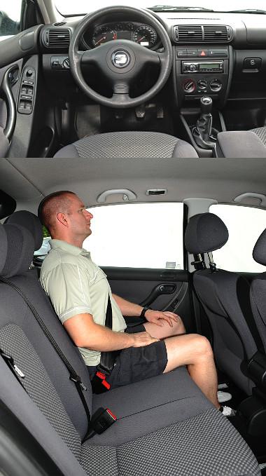 """A VW-konszern típusbetegsége: egyes műanyagok felületéről könnyen hámlik a bevonat. Hátul átlagos a hely, egyedül """"fejben"""" szűk kicsit a Leon"""