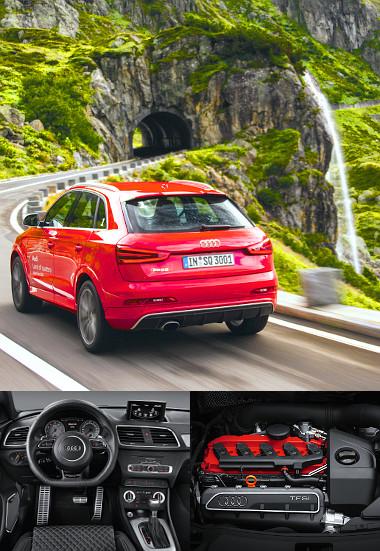 A nagy teljesítményű RS Q3-assal új szegmensbe lépett az Audi. Jól szól a diffúzorba integrált méretes kidörgő