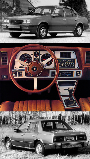 A Cadillacék Cimarronja a gyár J-modellje. A négyhengeres soros motort a kocsi orrában keresztben helyezték el, sebességváltója overdrive megoldású