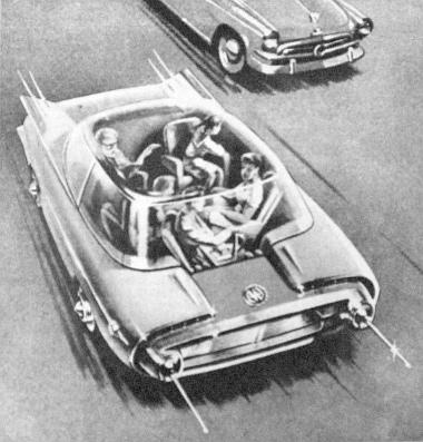 Az ismert szovjet tervező, Ju. Dolmatovszkij egyik korábbi rajza a vezérlőhálózaton futó autótípusról