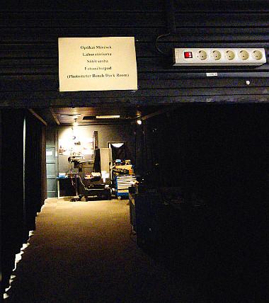 25 méteres fényalagút a Tungsram laboratórium lelke