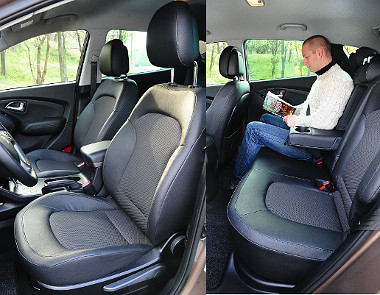 Nemcsak az első, hanem a hátsó, szélső ülések is fűthetők. Könyöklő és pohártartó is jutott a tágas második sorba