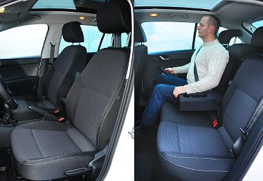 Plusz és mínusz: bőséges lábtér és kissé szűk kabinszélesség