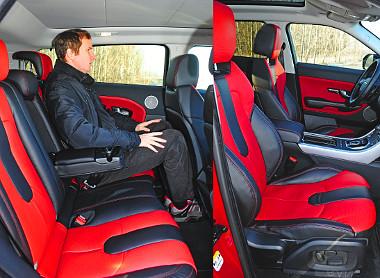 Kényelmes ülések és átlagos helykínálat jellemzik az Evoque-ot
