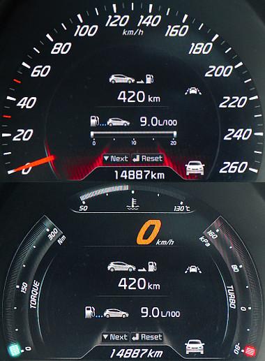 GT-feliratú kormánykapcsolóval aktiválható a sportkijelző, melyen a nyomaték, a turbónyomás és a vízhőfok mutatóié a főszerep