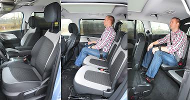 Vagy-vagy: középen dőzsölünk, vagy a hátra ülőnek a lábát helyezzük el. A merevítő is bezavar a pótülésnél