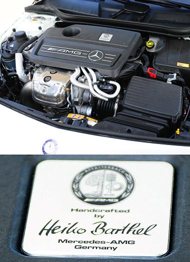 A motor összeszerelését végző szakember neve díszeleg a burkolaton