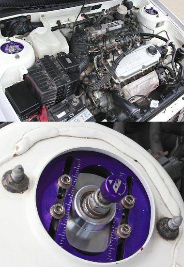 A könnyű kasztnit az 1,6 literes motor is lendületesen mozgatja. A futómű kifinomultságáról árulkodó részlet