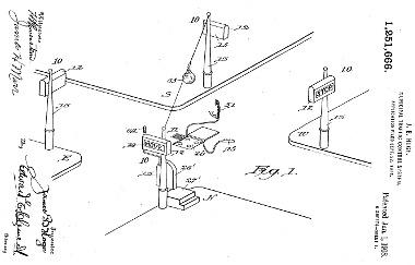 A jelzőlámpás kereszteződés szabadalmi rajza
