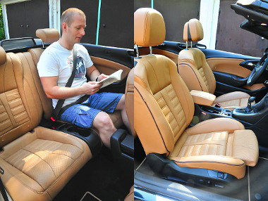 Az első ülések személyre szabhatók, bőrkárpit esetén jól jön az ülőlap/derékhűtés. A hátsó sor alkalomadtán felnőtteknek is megjárja