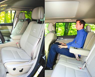 Hatalmas hely, komfortos ülések: kényelemből jelest érdemel a Grand Cherokee