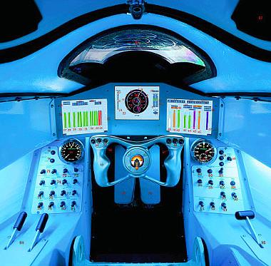 A cockpit, akár egy vadászgépben. A fékezés három fázisból áll majd