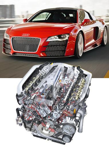A Q7-esben debütált 500 lóerős V12-eshez teljesítményben hasonló dízelt azóta sem készített senki. Az egységet az R8 TDI sportkocsitanulmányba is beépítették