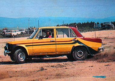 Egyénien színezett autójával Kajári József az összevont 1200/1300-as kategória győztese lett
