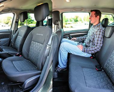 Az ülések lehetnének kényelmesebbek, de a Duster igen tágas. Fotó: Hilbert Péter