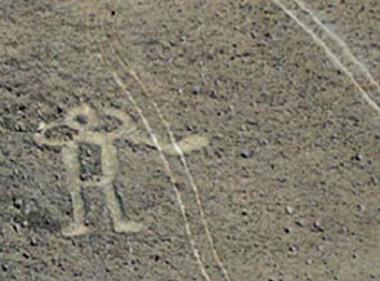 Ez a felvétel még a 2011-es Dakart követően készült az egyik régészeti lelet rongálásáról