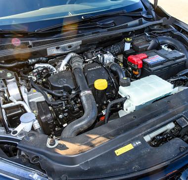 Az 1,5-ös Renault dízel kicsit hangosabb, mint a Qashqaiban