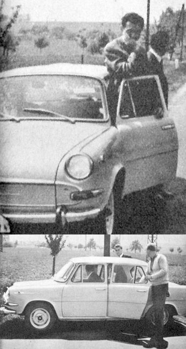 Csak azért tűnik nagyon alacsonynak a kocsi, mert az ajtóra támaszkodó Czollner mérnök magassága 188, a Škodáé pedig 139 cm
