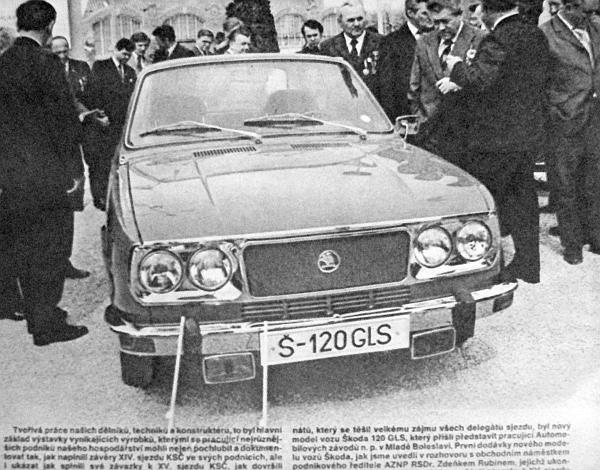 Az S-120 GLS típust, amelyről lapunk május 21-i számában csak privát felvételt közölhettünk, bemutatták a Csehszlovák Kommunista Párt XV. Kongresszusa küldötteinek is