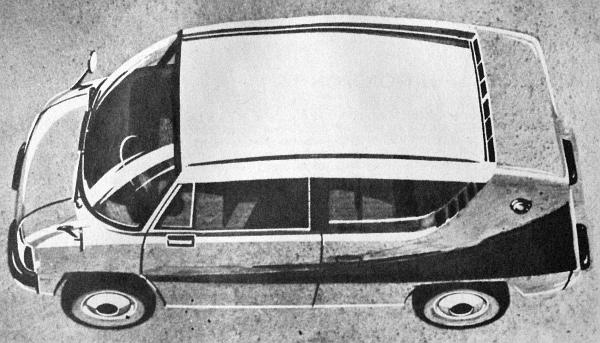 Egy másik elképzelés a Dolmatovszkij-iskola világhírű mintái alapján. De ez a kis alapterületű, nagy befogadóképességű kocsi a magánautósoknak is nagyon tetszik