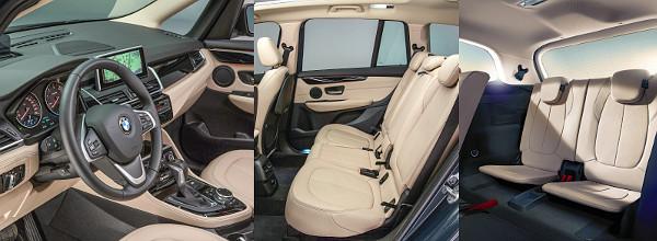 Tipikus BMW-cockpitot kapott a Gran Tourer is. A helykínálat a középső sorban pazar, leghátul pedig 170 centis magasságig lehet kényelmesen elférni