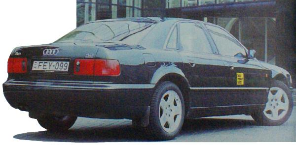 A nagy Audi vonalaiban ízlésesen keveredik a luxus és a sportosság